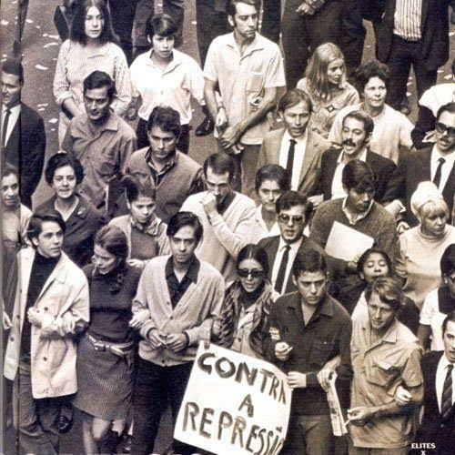 Chico Buarque em protesto contra a ditadura militar